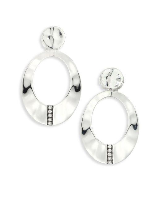 Ippolita | Metallic Sensotm Diamond & Sterling Silver Wavy Oval Earrings | Lyst