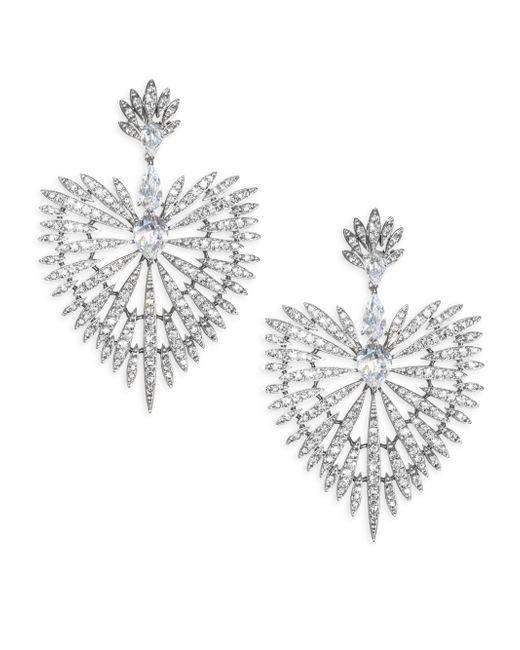 Adriana Orsini - Metallic Crystal Burst & Black Rhodium-plated Drop Earrings - Lyst