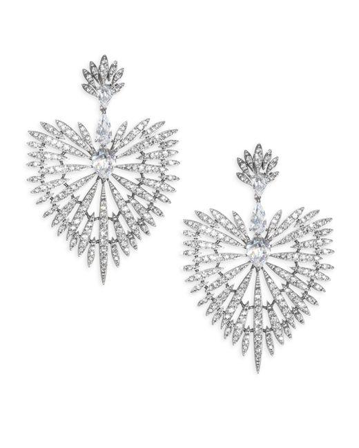 Adriana Orsini - Metallic Swarovski Crystal Burst Drop Earrings - Lyst