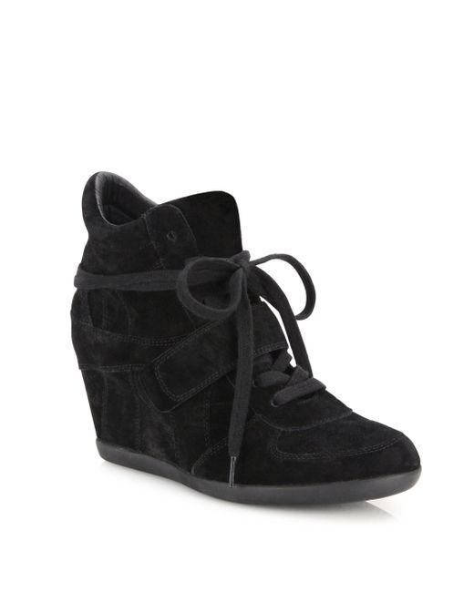 Ash - Black Bowie Suede High-top Wedge Sneakers - Lyst
