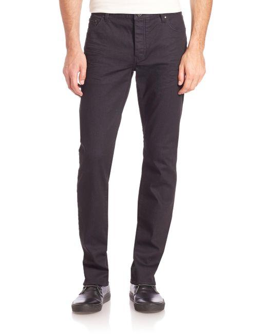 John Varvatos - Blue Button-fly Slim-fit Jeans for Men - Lyst