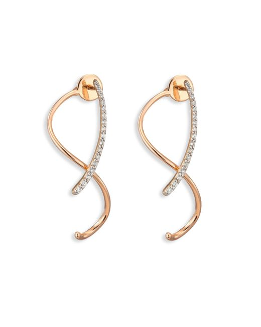 Kismet by Milka | Metallic Spectrum Diamond & 14k Rose Gold Front-&-back Earrings | Lyst