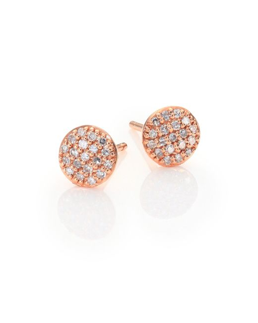 Phillips House | Metallic Affair Infinity Micro Diamond & 14k Rose Gold Stud Earrings | Lyst