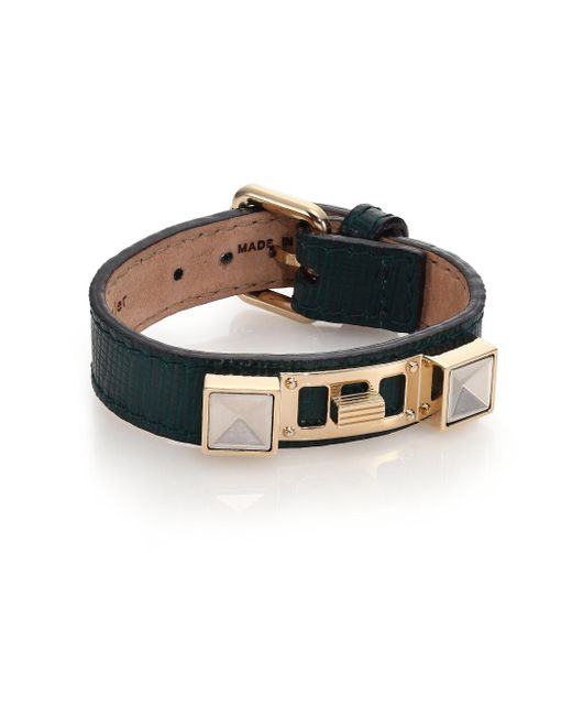Proenza Schouler | Green Ps11 Small Linosa Leather Bracelet | Lyst