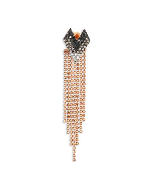 Kismet by Milka - Metallic Heart Diamond & 14k Rose Gold Single Front-&-back Earring - Lyst