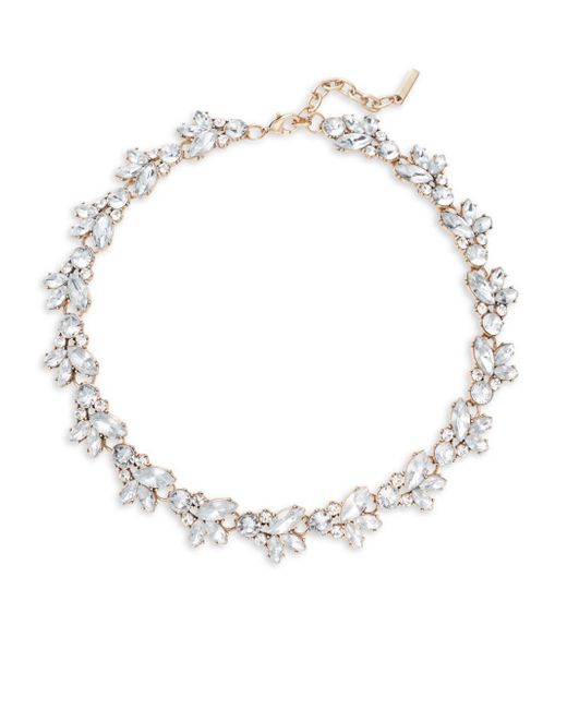 Saks Fifth Avenue | Metallic Clear Crystals Wreath Necklace | Lyst