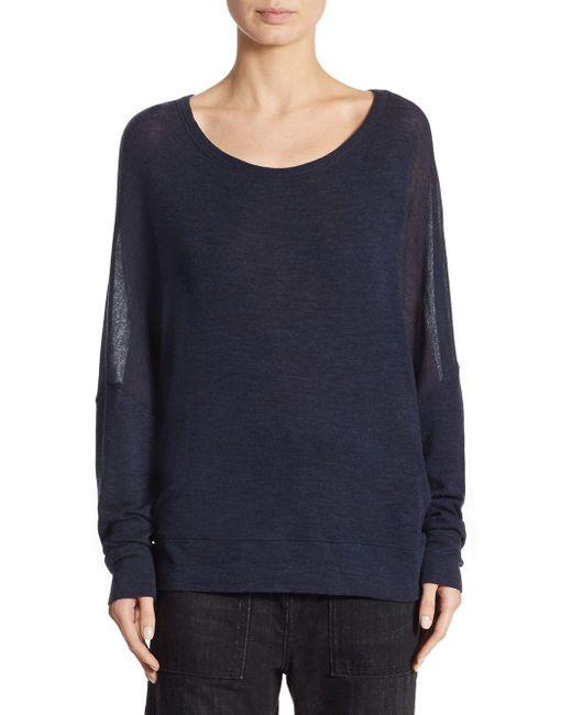 Vince - Blue Drop Shoulder Wool Sweater - Lyst