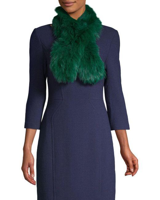 Adrienne Landau - Green Dyed Fox Fur Scarf - Lyst