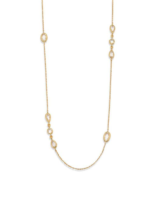 Adriana Orsini - Metallic Faceted Station Double-wrap Necklace - Lyst