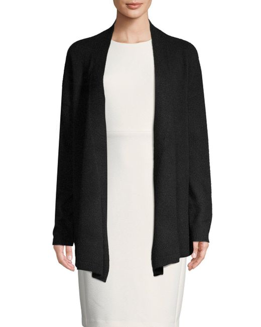 Saks Fifth Avenue - Black Open Front Cashmere Cardigan - Lyst