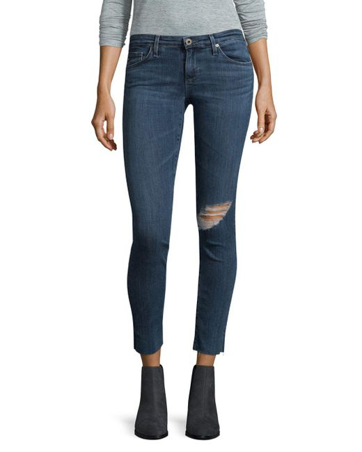 distressed skinny jeans - Blue AG - Adriano Goldschmied Oua0kbmKJ