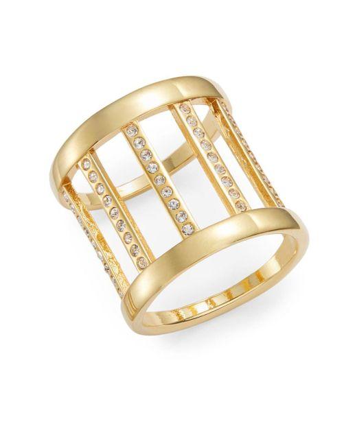 Vita Fede   Metallic Classic Sparkle Barrel Ring/goldtone   Lyst