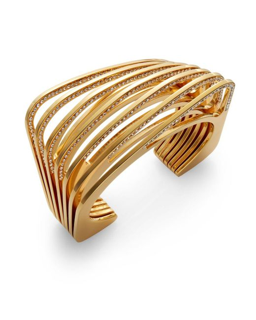 Vita Fede   Metallic Futturo Pavà Crystal Cut Bracelet/goldtone   Lyst