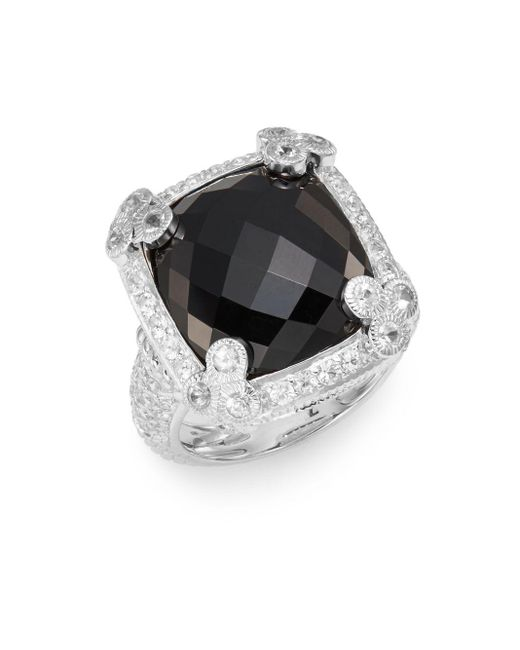 Judith Ripka | Metallic Olivia Cushion-cut Sterling Silver Ring | Lyst