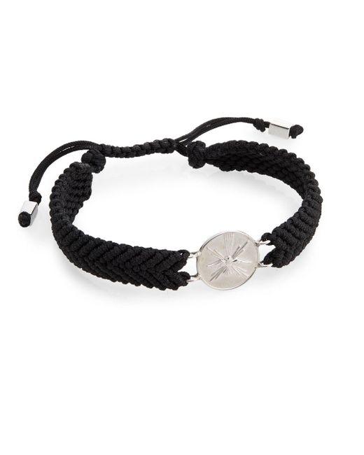 Tateossian | Black St. Espirit Macramé Medallion Bracelet for Men | Lyst