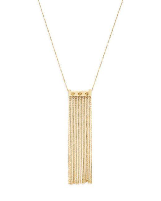 Rebecca Minkoff | Metallic Spiked Chain Fringe Necklace | Lyst