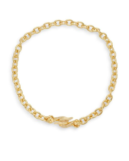 CC SKYE | Metallic Pavé Crystal Hook Chain Necklace | Lyst