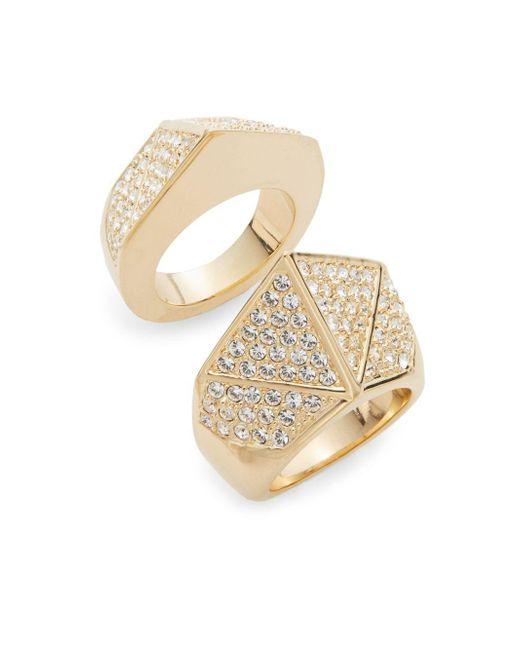 CC SKYE   Metallic Bonnie & Clyde Pavà Ring Set   Lyst