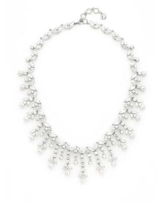 Adriana Orsini | Metallic Faux Pearl Vine Collar Necklace | Lyst