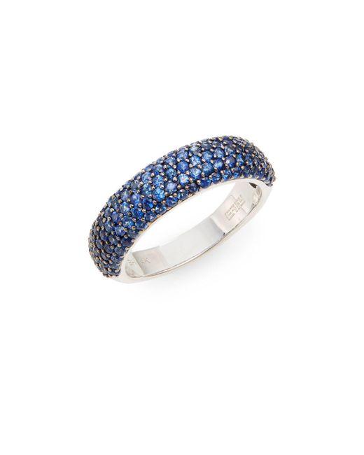 Effy | Blue Sapphire & 14k White Gold Ring | Lyst
