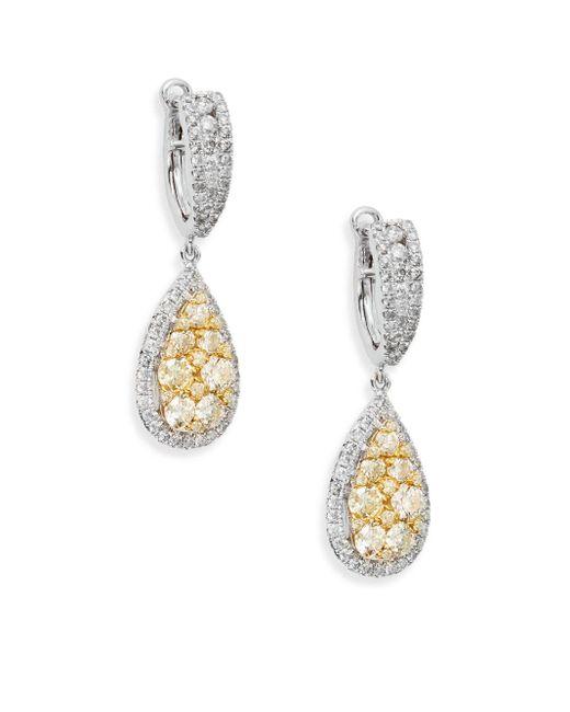 Effy | Final Call 2.07 Tcw Diamond & 14k White Gold Drop Earrings | Lyst