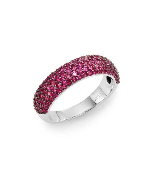 Effy   Metallic Final Call Ruby & 14k White Gold Ring   Lyst