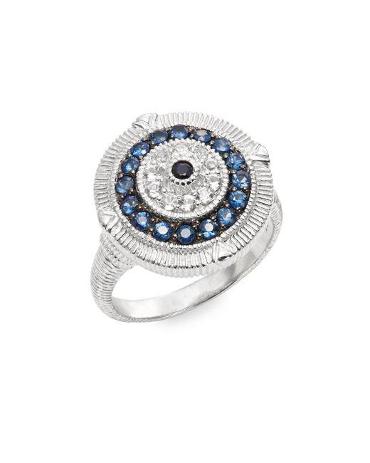 Judith Ripka   Metallic Lucky Blue, White & Black Sapphire Evil Eye Ring   Lyst