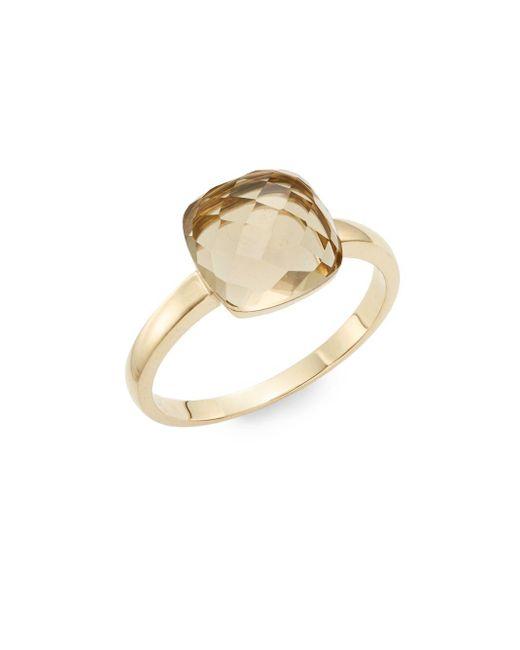 Effy | Metallic Lemon Quartz & 14k Yellow Gold Ring | Lyst