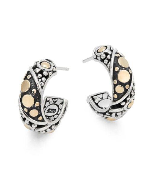 John Hardy | Metallic Jaisalmer Small Hoop Earrings | Lyst