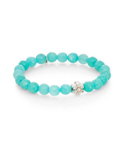 Anzie | Blue Boheme Aqua Jade & Sterling Silver Bracelet | Lyst