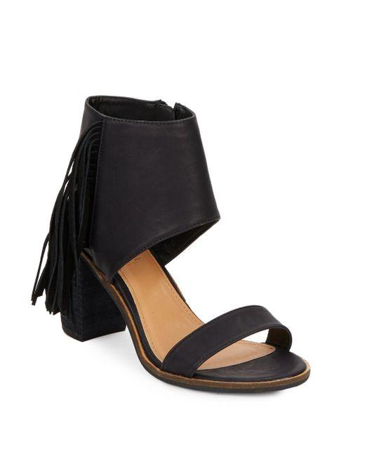 Catherine Malandrino | Black Yanaisley Fringed Sandals | Lyst