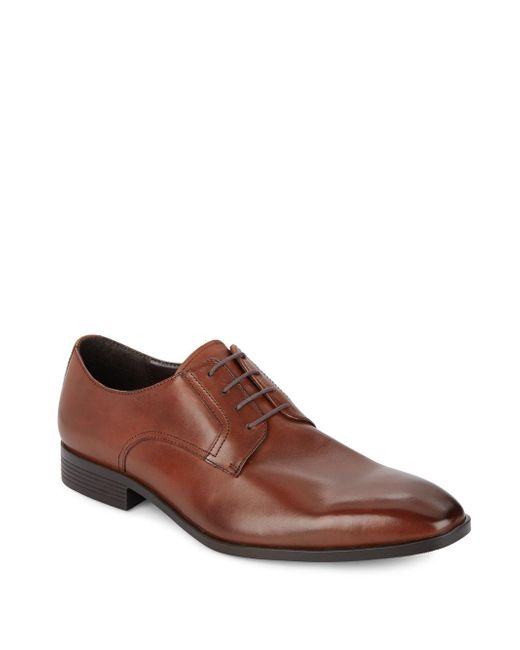 Saks Fifth Avenue   Brown Leather Derby Lace-ups for Men   Lyst