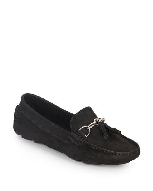Saks Fifth Avenue | Black Tassel Horsebit Suede Loafers | Lyst