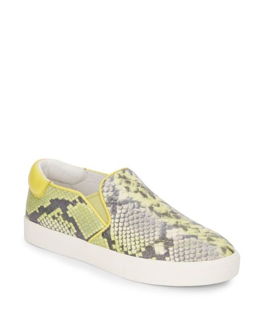 Ash | Yellow Impulse Stamped Leather Slip-on Sneakers | Lyst