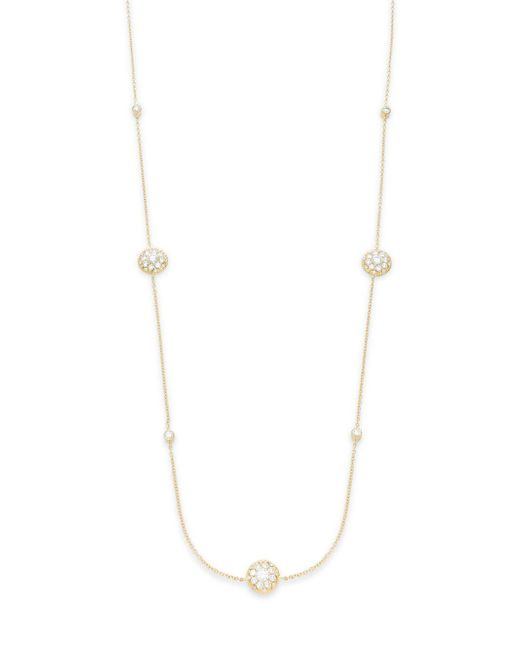 Freida Rothman | Metallic Classics Diva 14k Yellow Gold Vermeil Station Necklace | Lyst