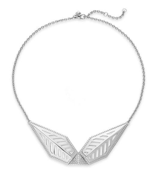 Rebecca Minkoff | Metallic Open Blade Collar Necklace/silvertone | Lyst