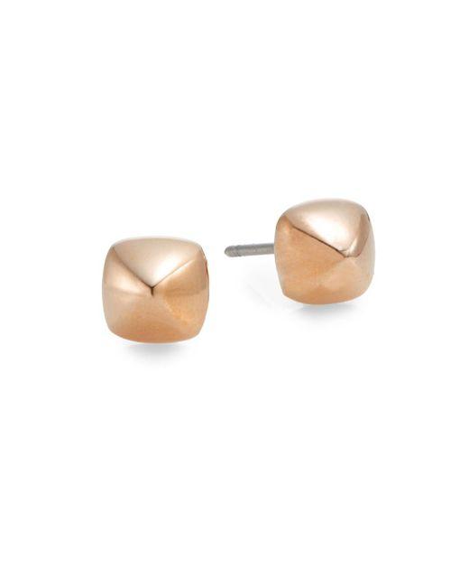 Rebecca Minkoff   Pink Pyramid Stud Earrings/rose Goldtone   Lyst