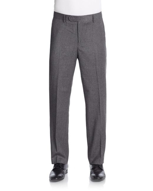 Saks Fifth Avenue | Gray Wool & Cashmere Trousers for Men | Lyst