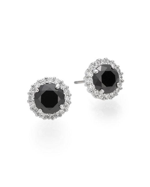 Saks Fifth Avenue | Metallic Halo Button Earrings | Lyst