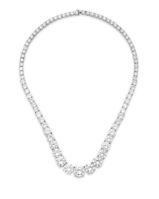 Saks Fifth Avenue | Metallic Graduated White Stone Necklace/silvertone | Lyst