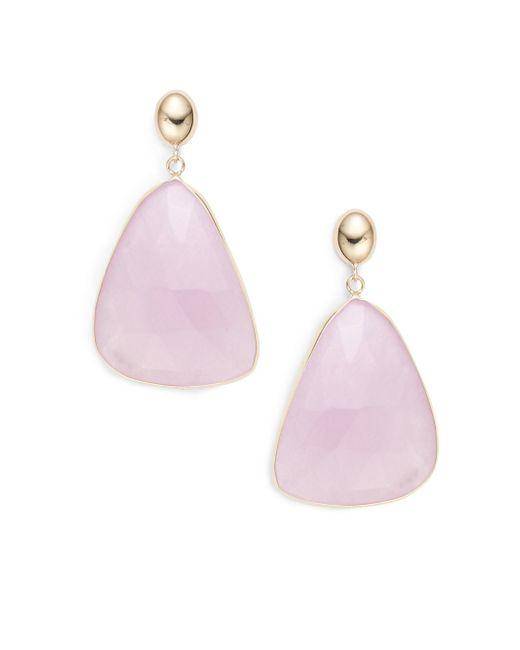 Saks Fifth Avenue | Metallic Light Pink Quartz Kite Drop Earrings | Lyst