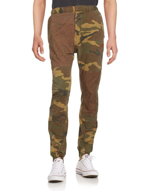 Prps Charon Camo Print Jogger Pants in Green for Men