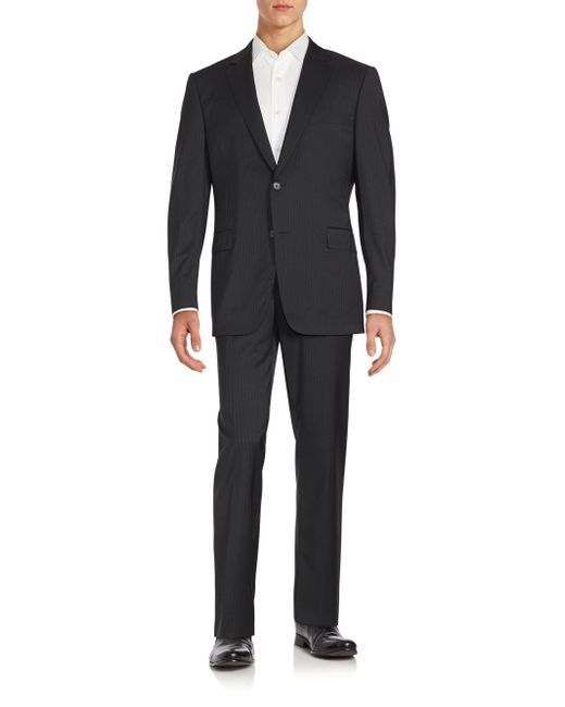 Black Pinstriped Suit 83