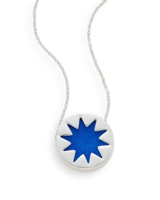 House of Harlow 1960 | Mini Sunburst Pendant Necklace Robins Egg Blue Stylist Pick | Lyst
