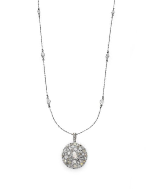 Bavna | Metallic 4.33 Tcw Diamond & Sterling Silver Station Pendant Necklace | Lyst