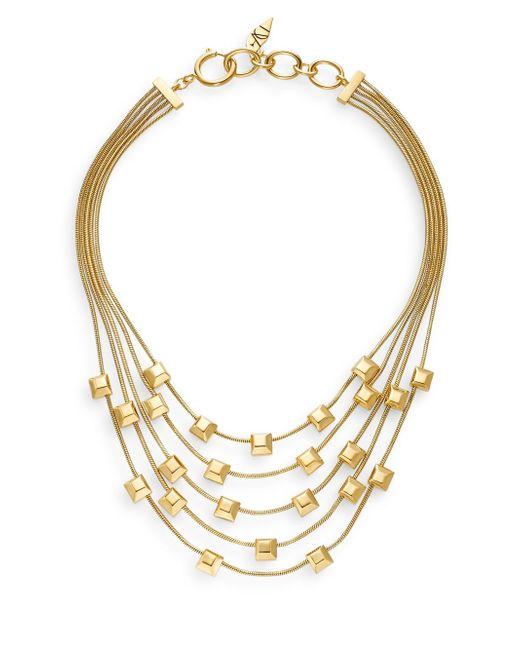 Diane von Furstenberg | Metallic Cubism Multi-strand Necklace | Lyst