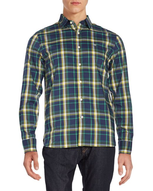Victorinox | Blue Morgan Plaid Sportshirt for Men | Lyst