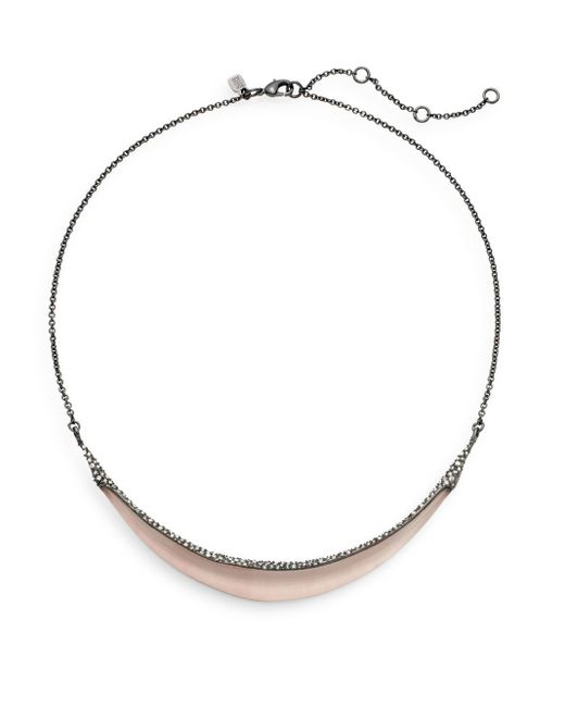 Alexis Bittar | Gray Lucite & Swarovski Crystal Crescent Collar Necklace | Lyst