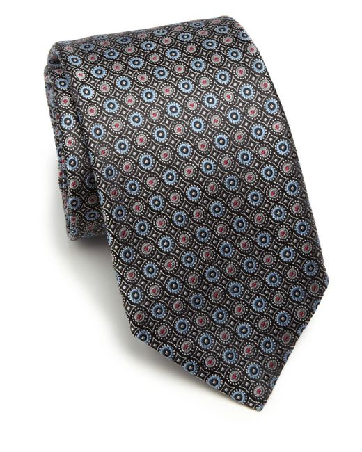 Saks Fifth Avenue | Black Circle Silk Tie  for Men | Lyst