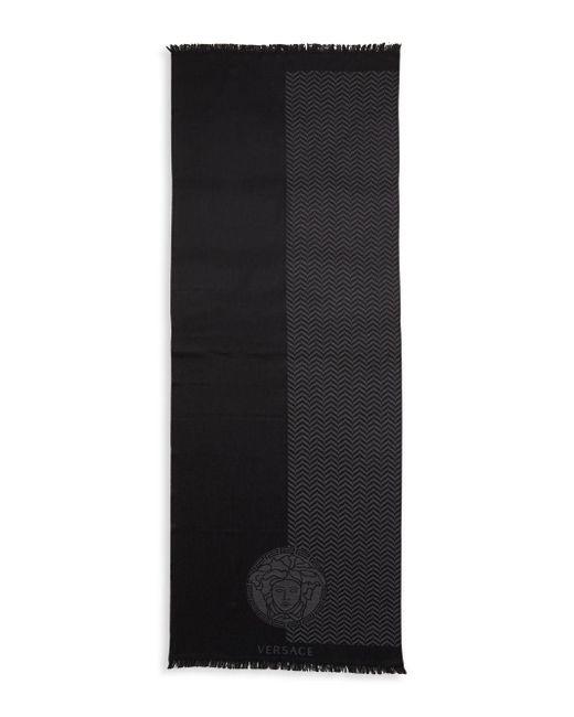 Versace   Gray Sciarpa Color-block Scarf   Lyst